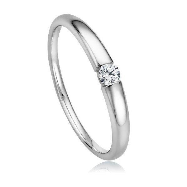 Stilvoller Verlobungsring in Weißgold - ab 390,00€