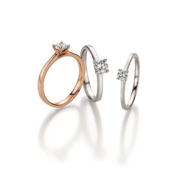 Verlobungsringe in Weiß- oder Rotgold - ab 490,00€