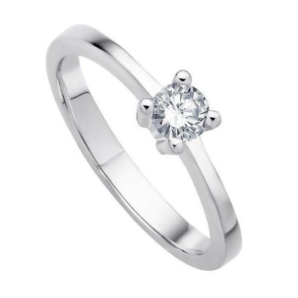 Verlobungsring mit lupenreinem 0,2ct Brillant - ab 975,00€