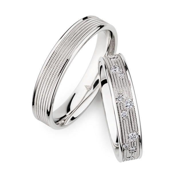 Millgriff-Ringe aus Palladium - Paarpreis ab 2500,00€