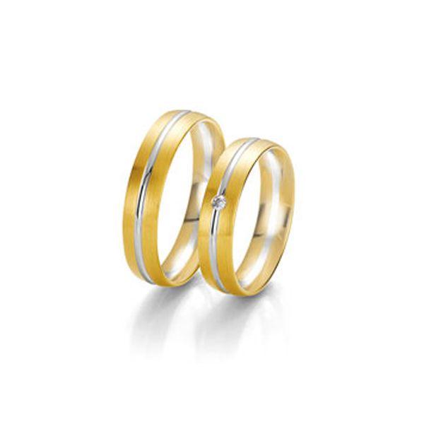 Eheringe mit harmonischem Farbspiel aus Gelb- und Weißgold - Paarpreis ab 1.290,00€
