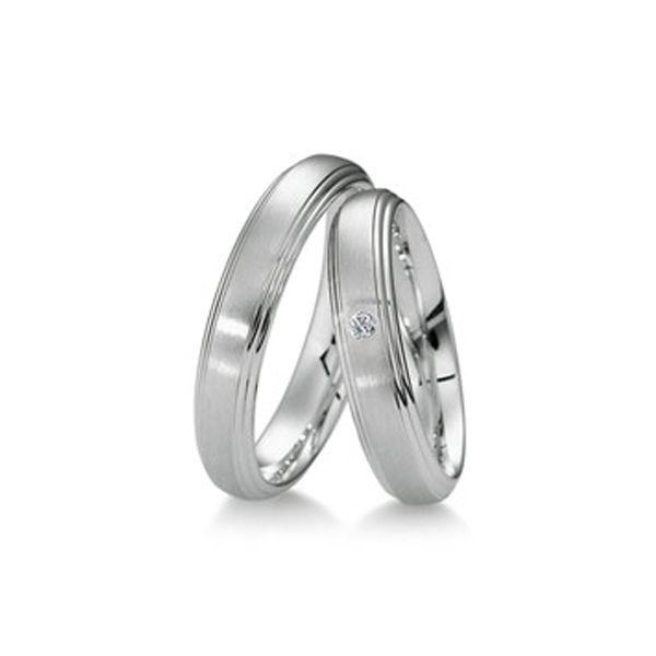Zeitloses Ringpaar aus Weißgold - Paarpreis ab 1.560,00€