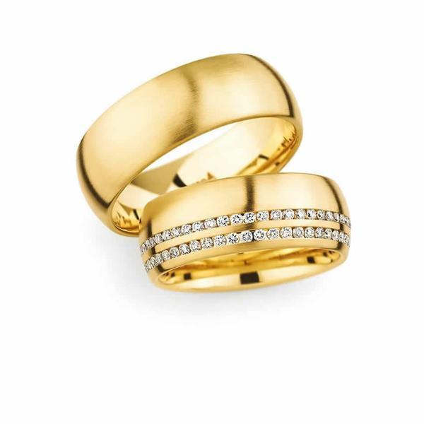 Traumhafte Gelbgold Ringe mit Diamanten - Paarpreis ab 5.000,00€
