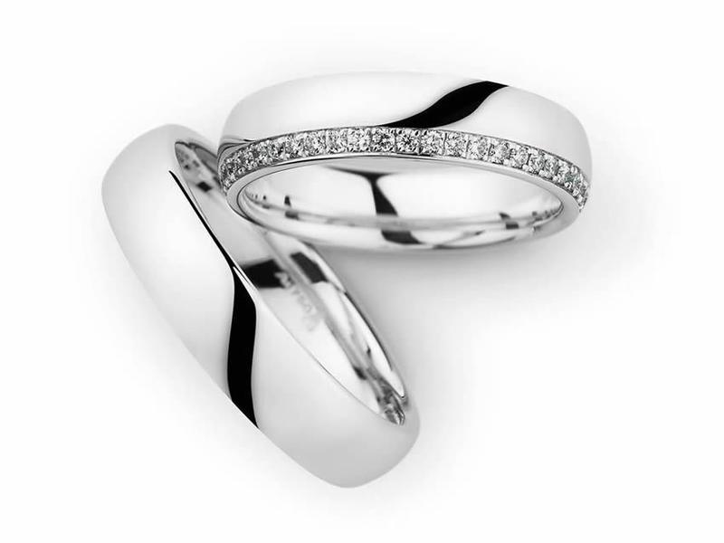 Strahlendes Weißgold und funkelnde Diamanten - Paarpreis ab 3.800€