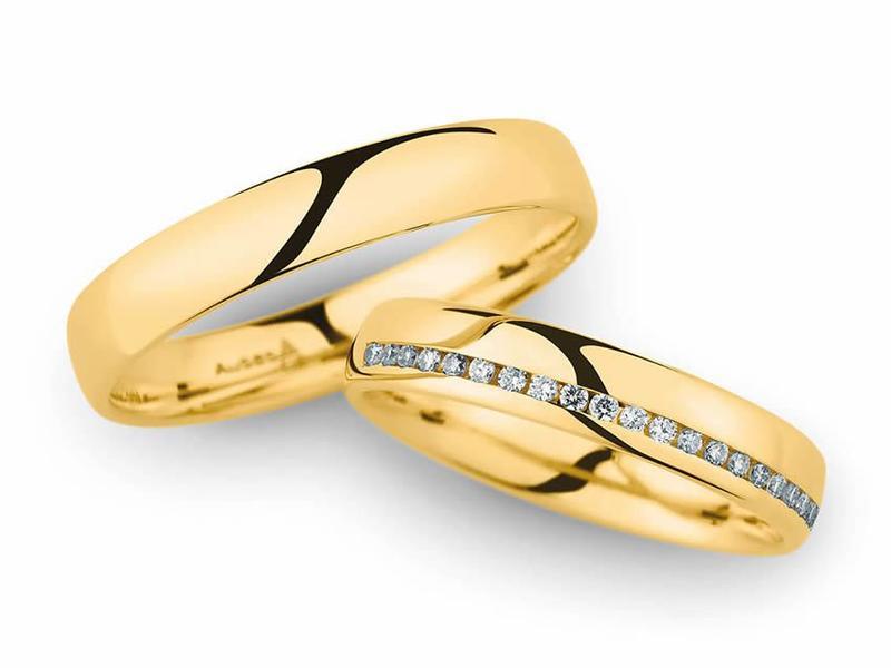 Strahlende Gelbgold Eheringe - Paarpreis ab 2000,00€