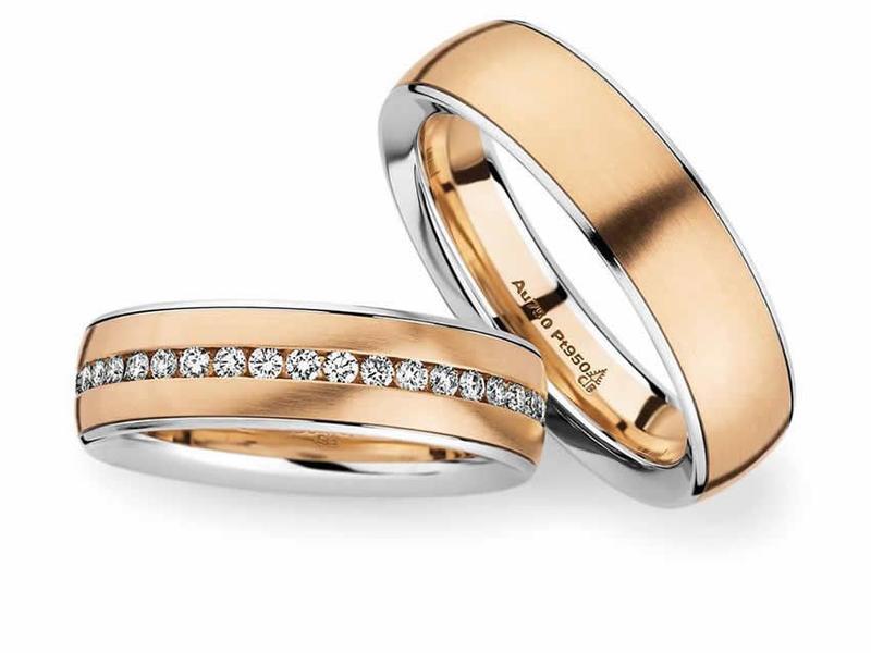 Platin und Weißgold Eheringe - Paarpreis ab 3.900€