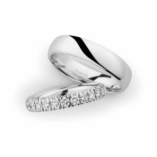 Atemberaubende Weißgold Eheringe - Paarpreis ab 3.900,00€